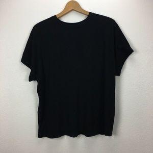 Vince. Black Crewneck Dolman Sleeve T-shirt S